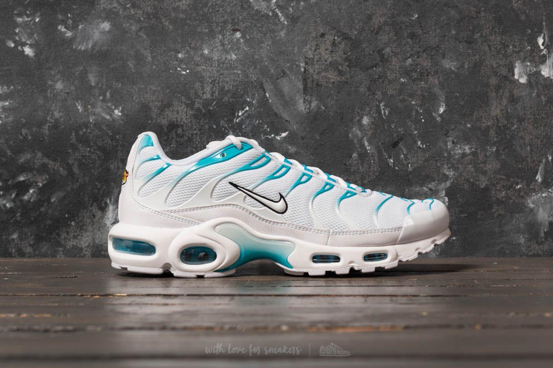 Men S Shoes Nike Air Max Plus White White Light Blue Fury