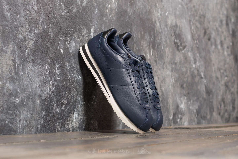 61cc164f3a98 Nike Classic Cortez Leather Premium Obsidian  Obsidian-Black ...
