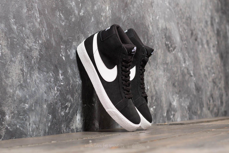 Nike SB Zoom Blazer Mid Black/ White-White-White | Footshop