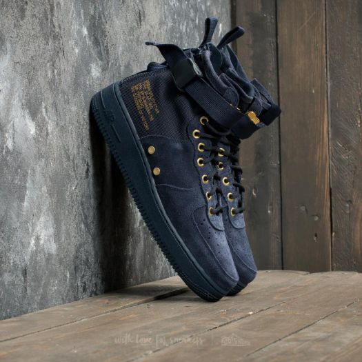 best website 5de83 6f684 Nike SF Air Force 1 Mid Obsidian/ Obsidian/ Black | Footshop