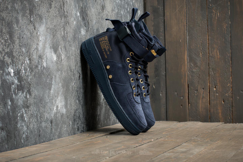 best website 06dc5 efe9d Nike SF Air Force 1 Mid Obsidian/ Obsidian/ Black | Footshop