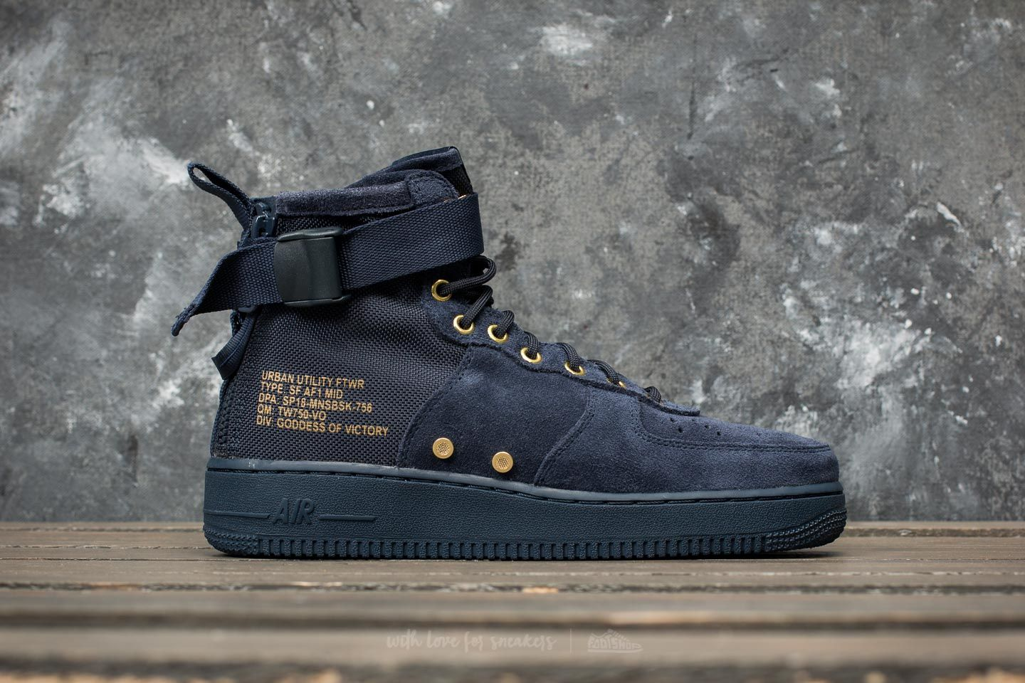 best website 33e34 69cd7 Nike SF Air Force 1 Mid Obsidian/ Obsidian/ Black | Footshop
