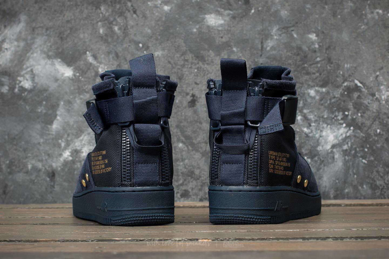 Nike SF Air Force 1 Mid Uomo, Obsidian Black Obsidian