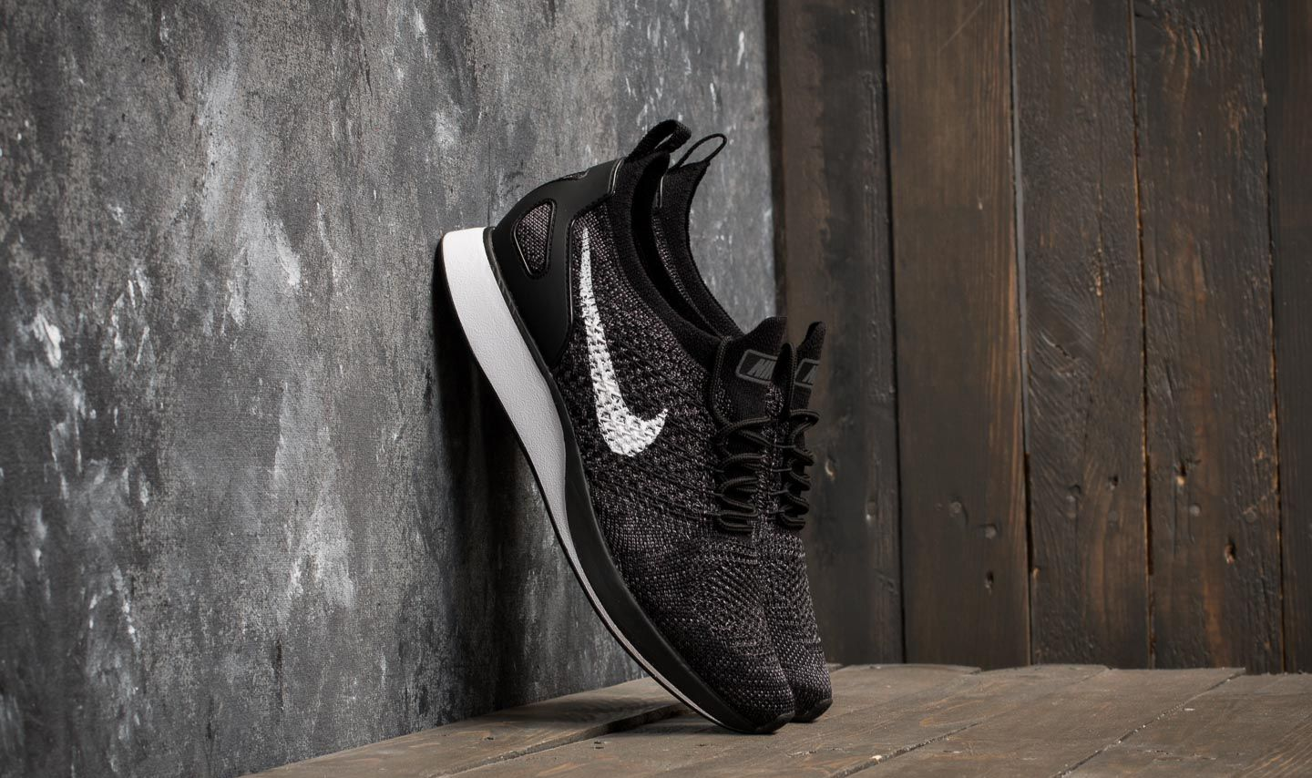 bbffae19f1f9 Nike W Air Zoom Mariah Flyknit Racer Black  White-Dark Grey ...