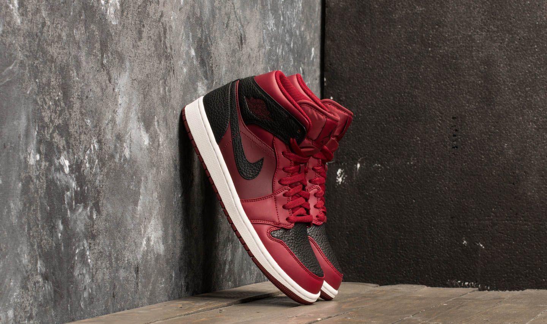Air Jordan 1 Mid Team Red  Black-Summit White  eb1f3fcb4734