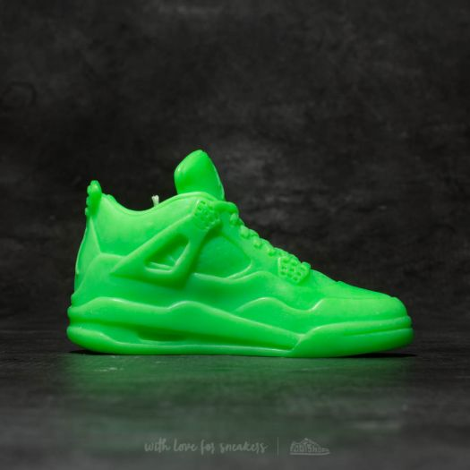 low priced fade8 6d59e WHAT THE SHAPE Air Jordan 4 Candle Neon Green | Footshop
