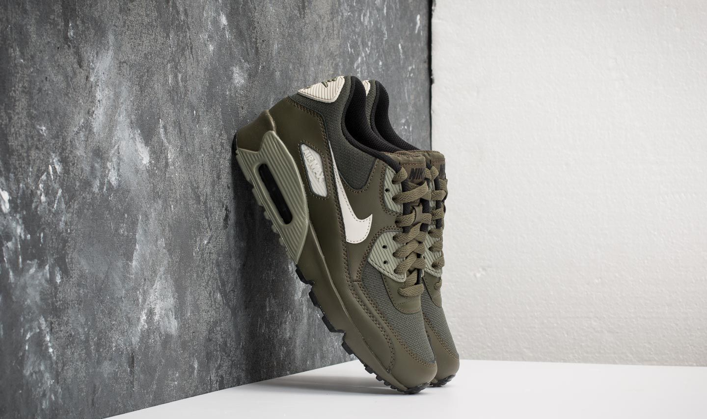 068028c6557b Nike Air Max 90 Mesh (GS) Cargo Khaki  Light Bone