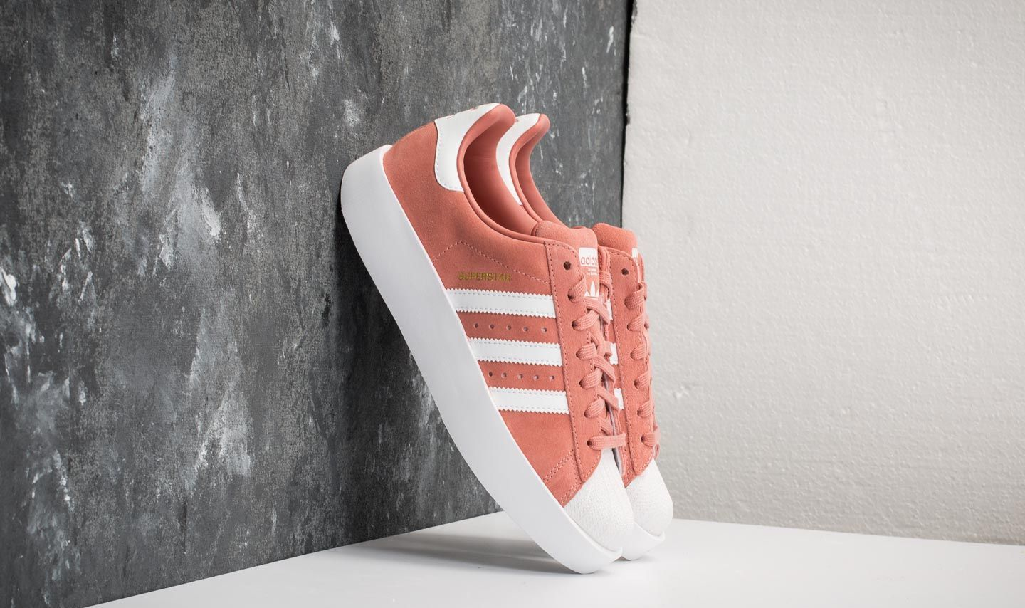 928fade40fe1 adidas Superstar Bold W Ash Pink  Ftw White  Gold Metallic