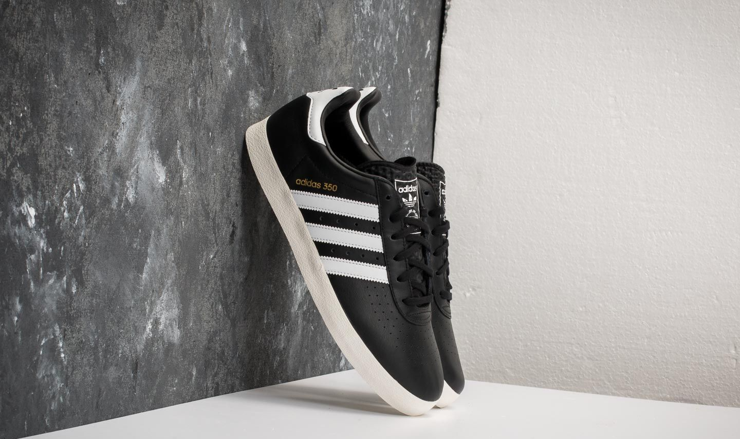 adidas 350 Core Black Ftw White Off White | Footshop