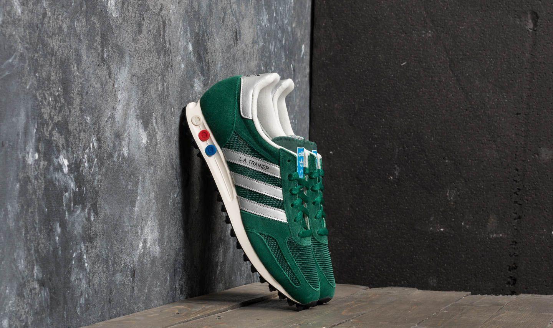 info for 7b69d 62962 adidas LA Trainer OG Collegiate Green  Metallic Silver  Core Black