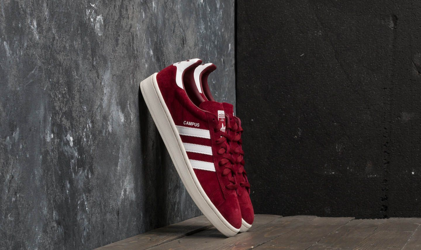 858328a4037550 adidas Campus Collegiate Burgundy  Ftw White  Chalk White at a great price  £54