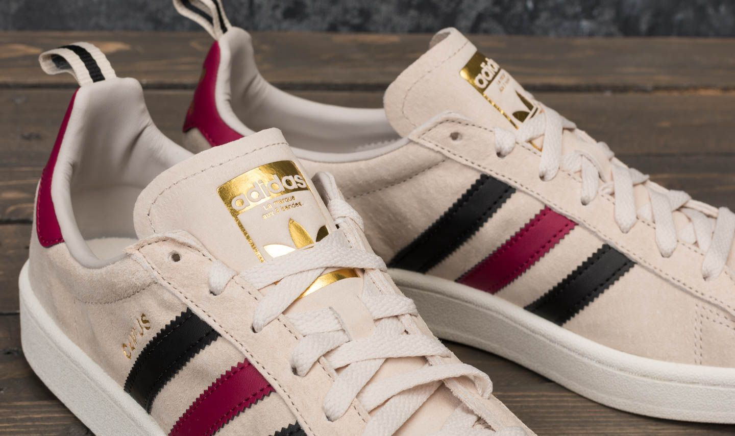 adidas Campus Clear Brown Core Black Mystery Ruby | Footshop