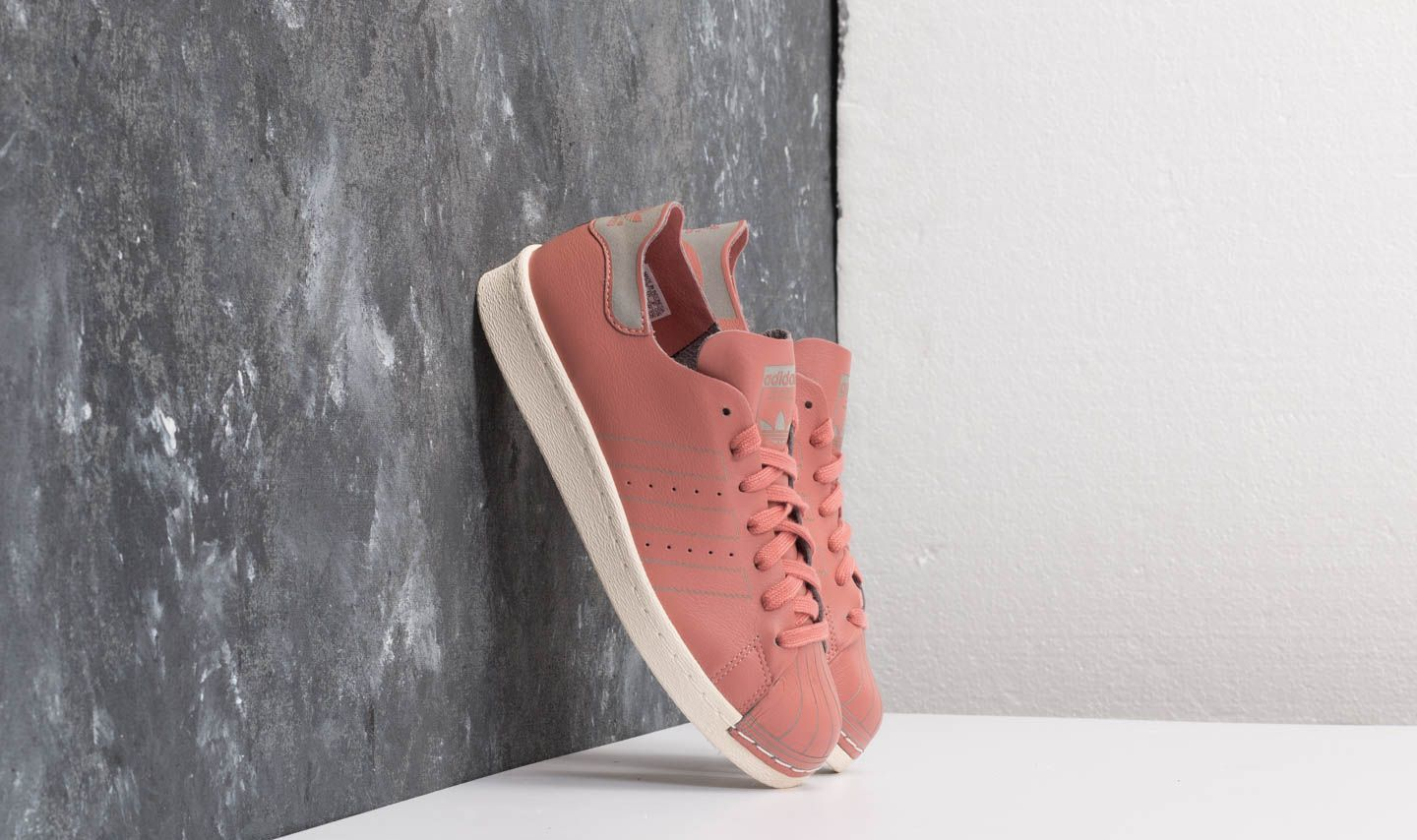 purchase cheap b19ea 09186 adidas Superstar 80s Decon W. Ash Pink Ash Pink Off White