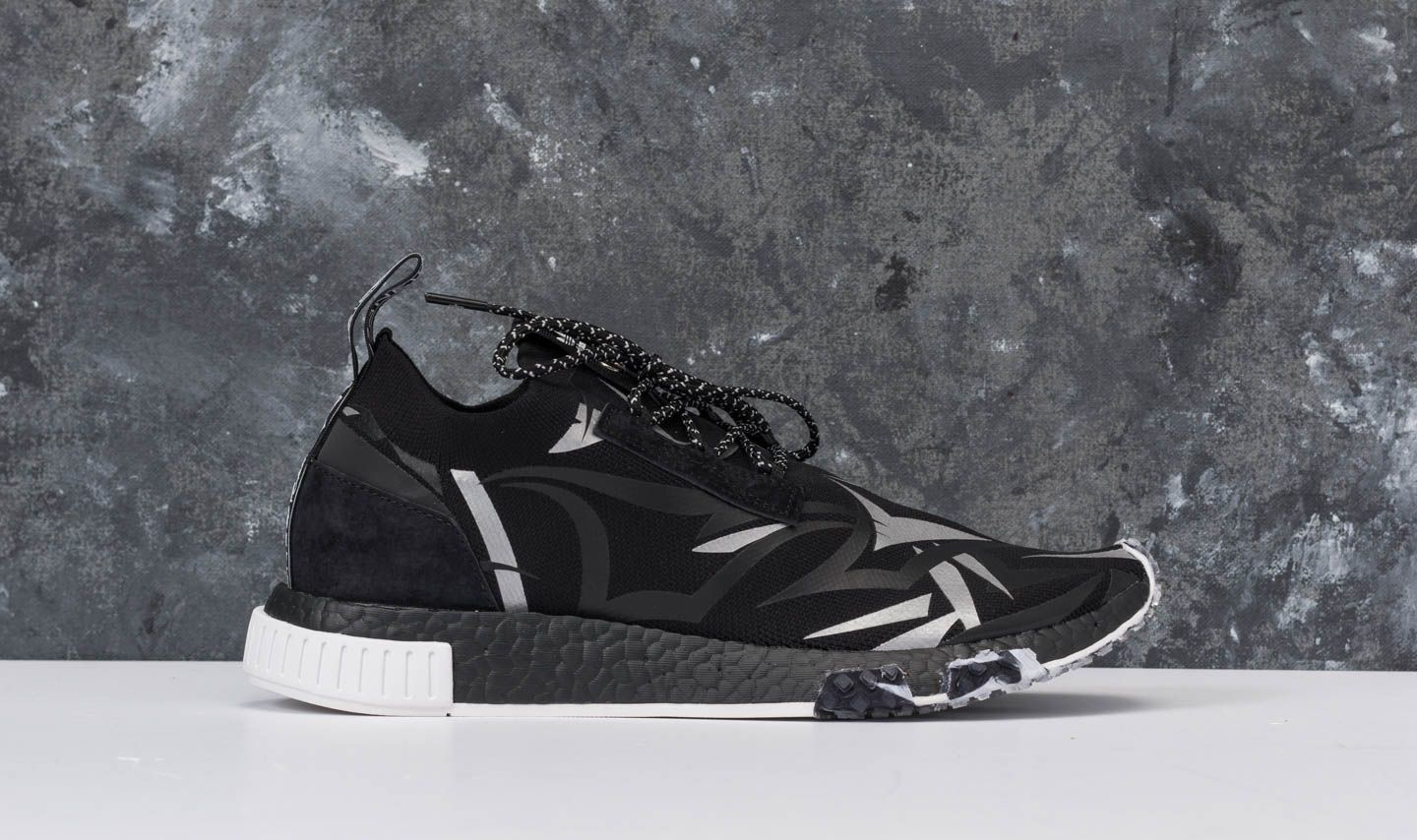 4c71d007dfb03 adidas Consortium x Juice HK NMD Racer Core Black  White at a great price   245