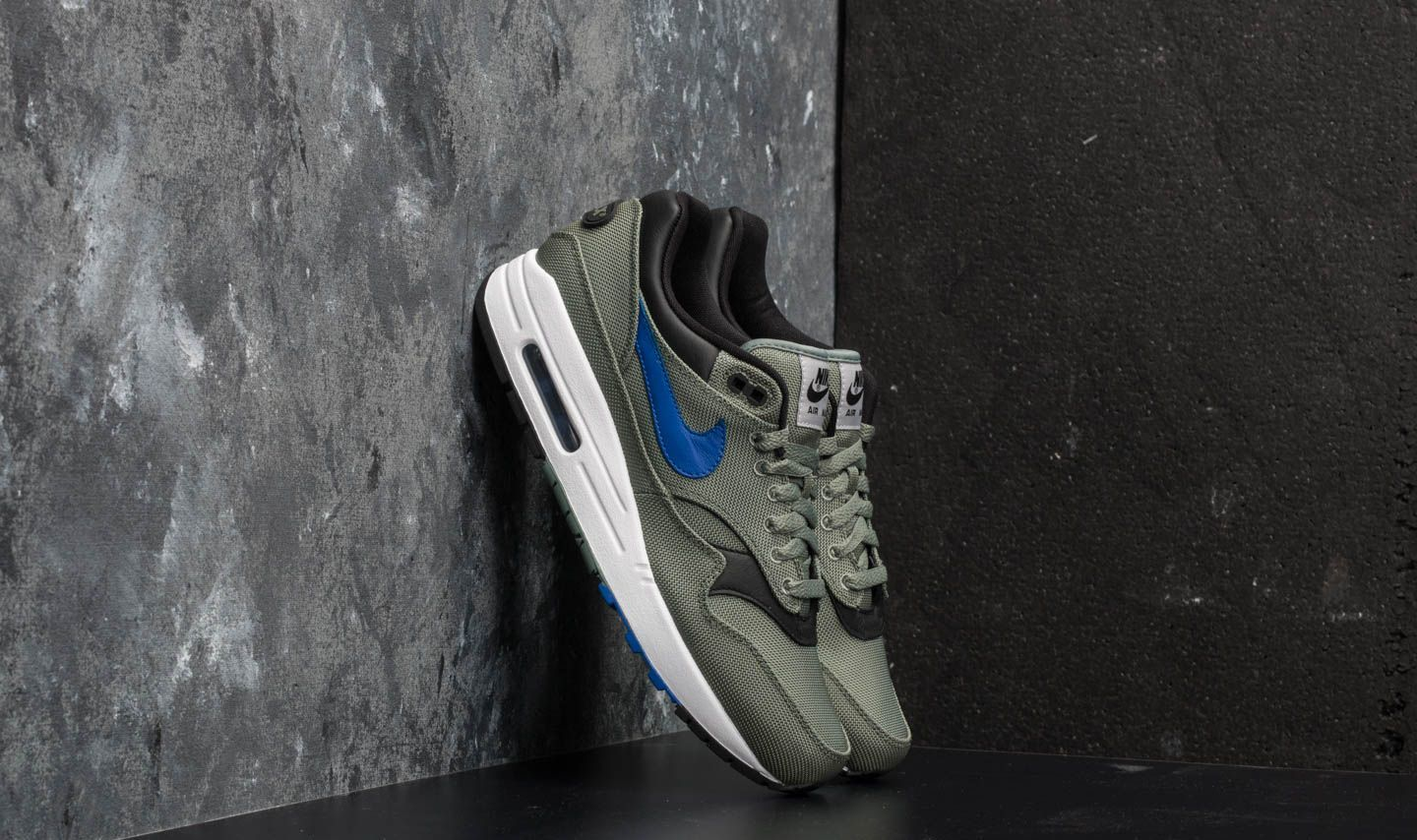 1577f565155c Nike Air Max 1 Premium Clay Green  Hyper Royal-White
