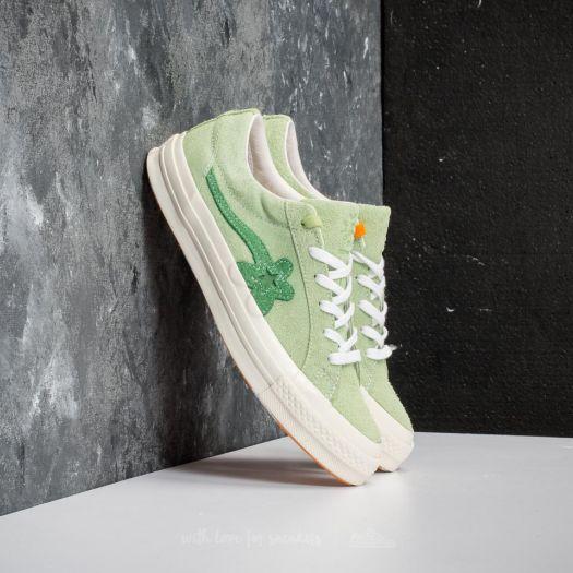 Men S Shoes Converse One Star Ox Golf Le Fleur Jade Lime Mint Green Egret Footshop