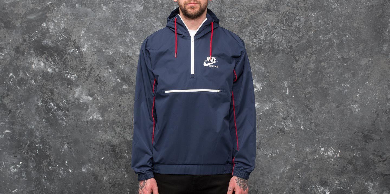 Nike Sportswear Hooded Woven Archive Jacket Blue  2ebf8c95f