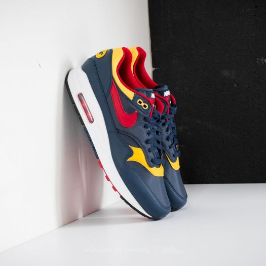 nike air max 1 navy gym red