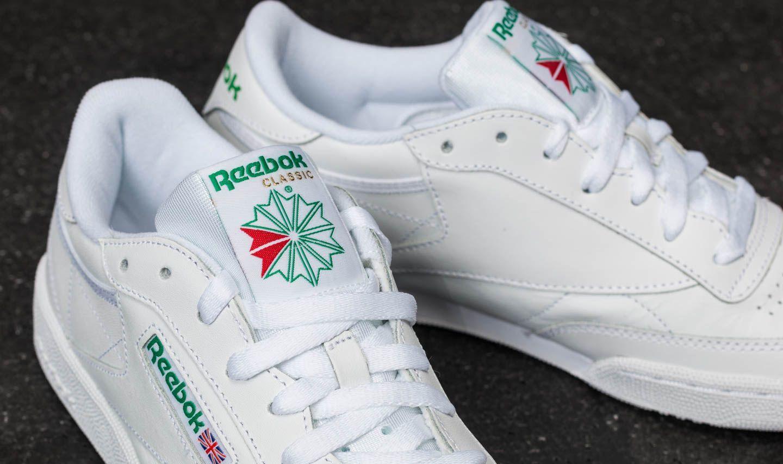 0ea6f95eba9 Reebok Club C 85 White  Green at a great price £68 buy at Footshop