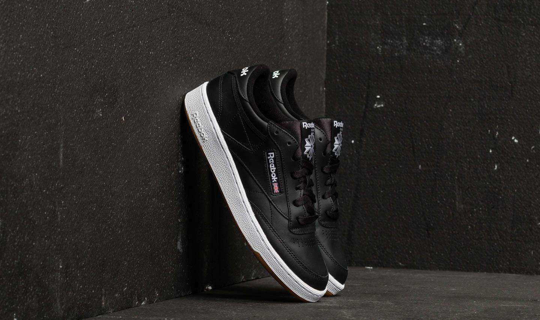 Férfi cipők Reebok Club C 85 Black/ White/ Gum