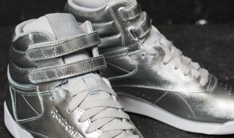 9f249a260e9c Reebok Freestyle Hi Metallic Silver Metallic  Steel  White at a great price  £48