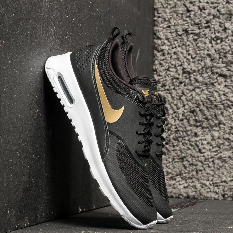 Nike Wmns Air Max Thea J Black/ Metallic Gold-White EUR 38