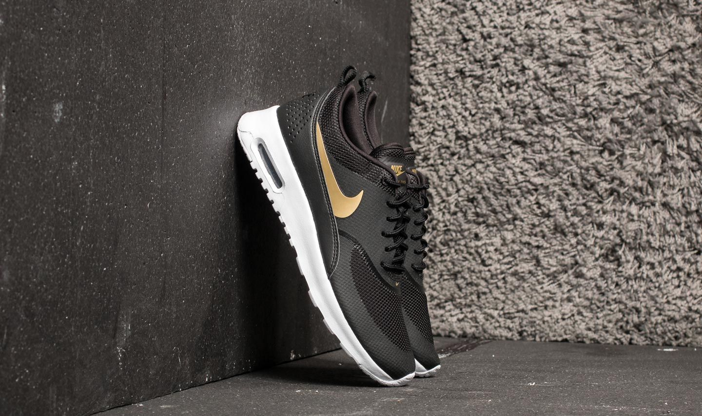 Nike Wmns Air Max Thea J Black  Metallic Gold-White at a great price 5338f21063
