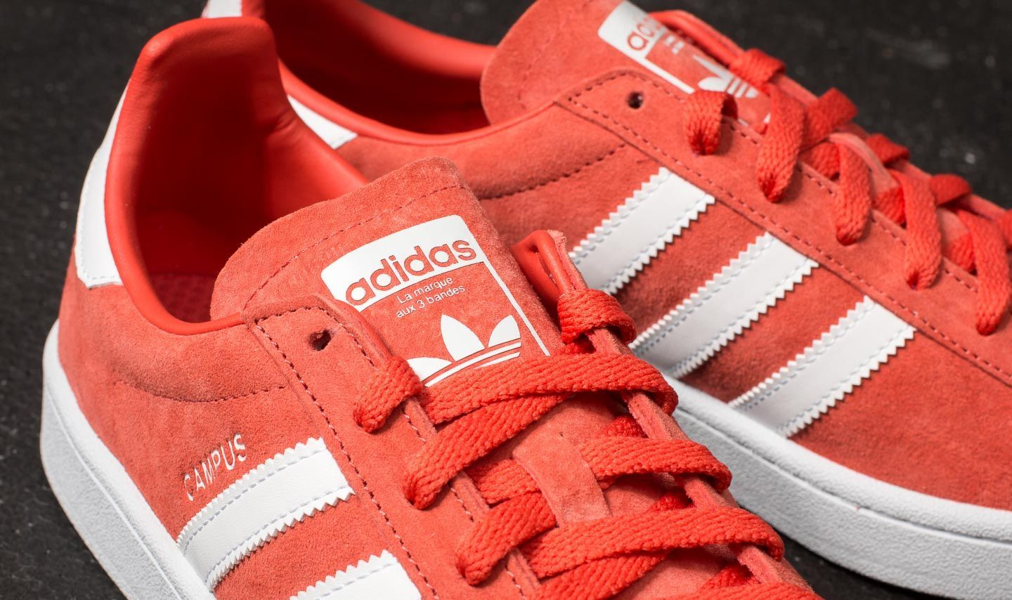watch 18095 21d43 adidas Campus Trace Scarlet Ftw White Ftw White at a great price £48