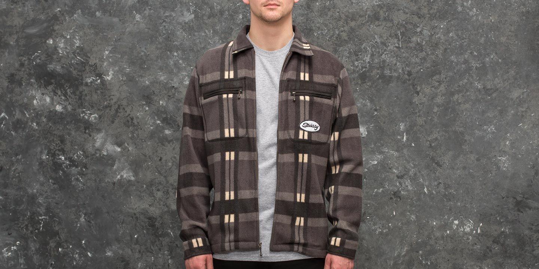 Košile Stüssy Polar Fleece Zip Up Shirt Black