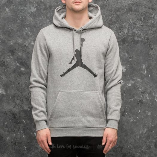 on wholesale exquisite style classic fit Jordan Flight Fleece Jumpman Air Pullover Hoodie Grey ...