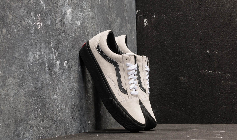 3da8402b23 Vans Old Skool Platform (Suede) Blanc De Blanc  Black