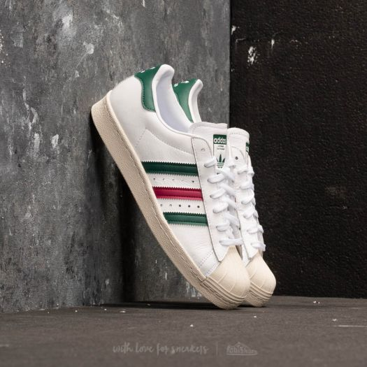 adidas Superstar 80s Ftw White Collegiate Green Mystery Ruby | Footshop