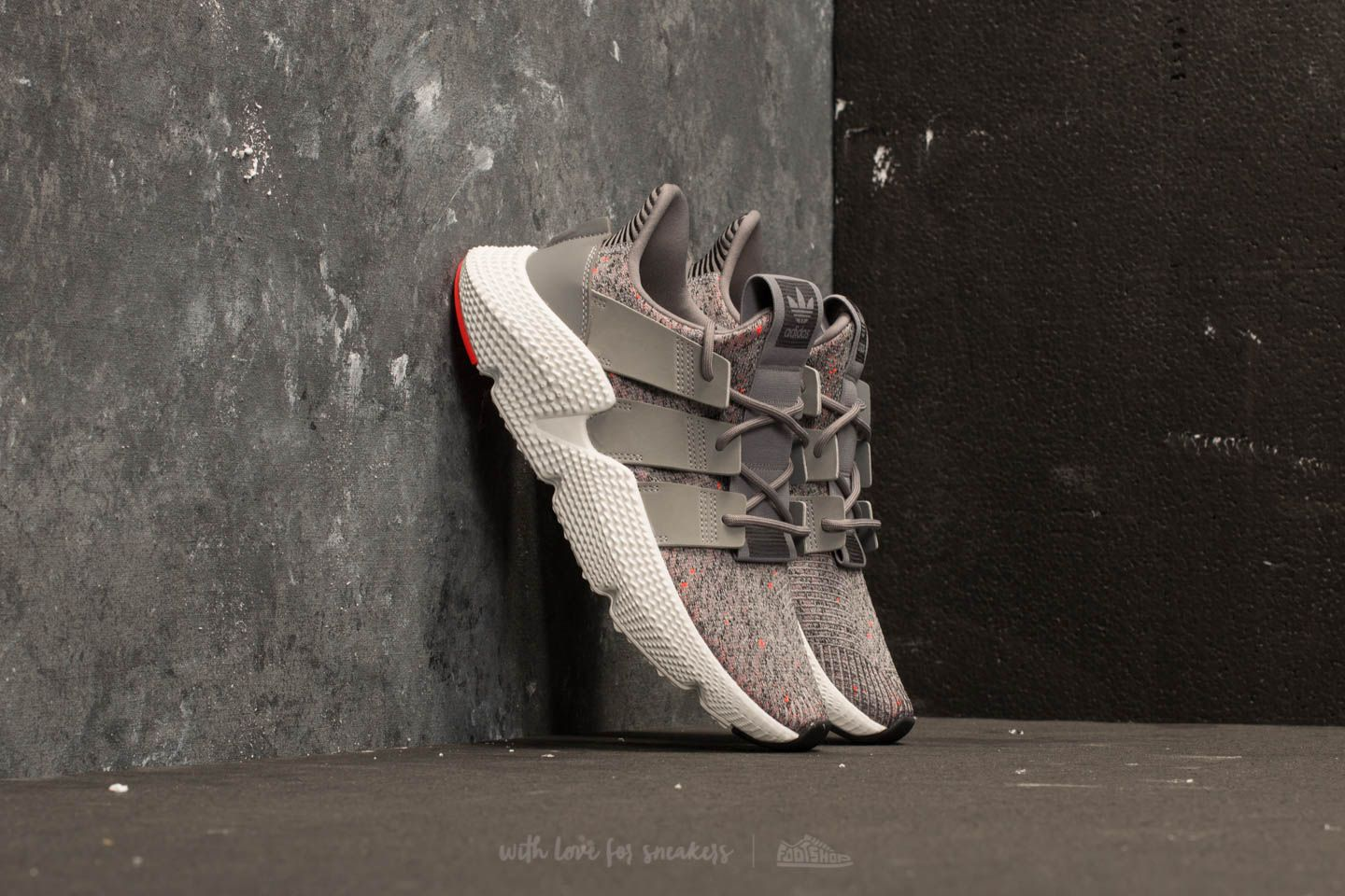 promo code 36e25 3043b adidas Prophere Grey Three  Ftw White  Solid Red