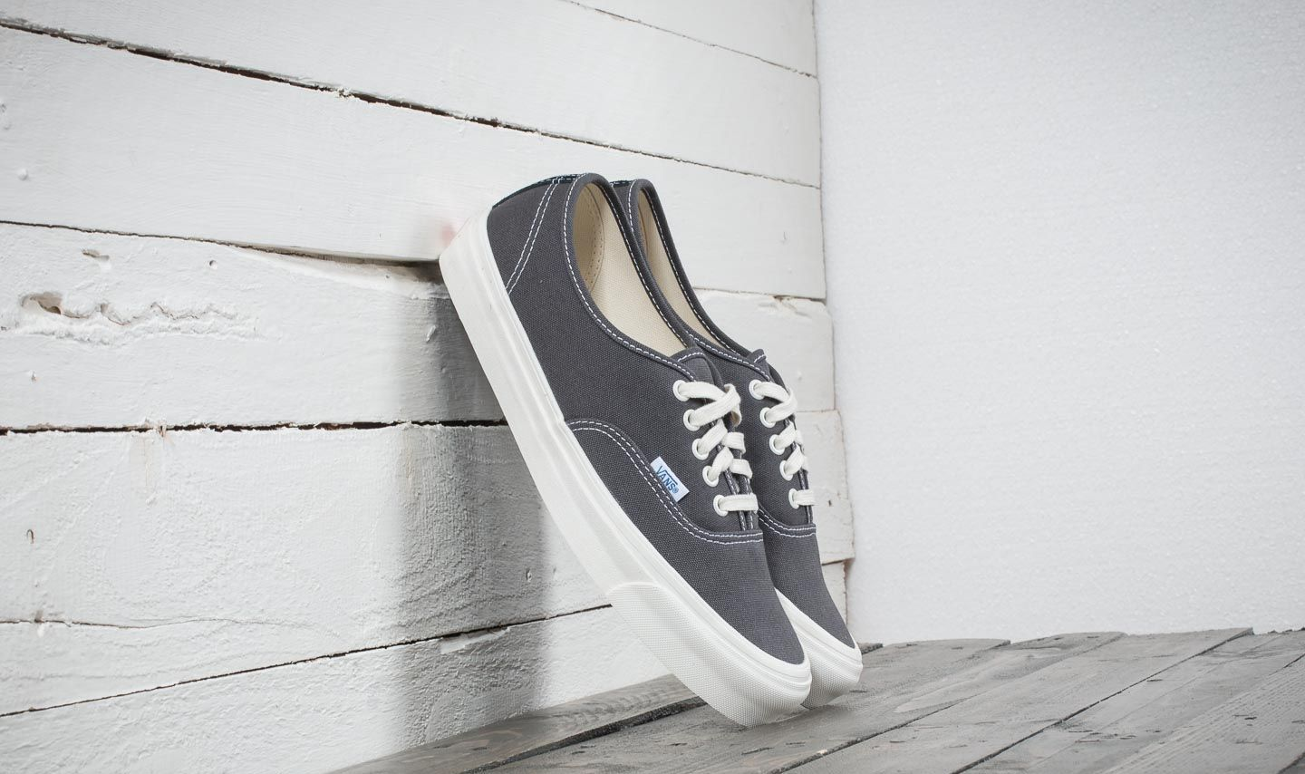 Vans OG Authentic LX (Canvas/Suede) Asphalt/ Black