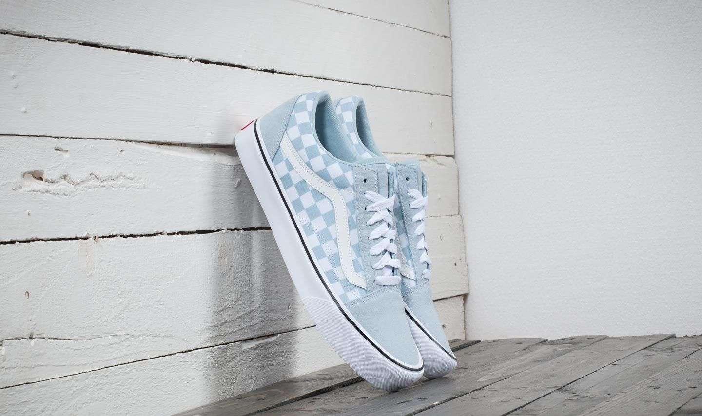 e5c9acea9be862 Vans Old Skool Lite (Suede  Canvas) Baby Blue  True White