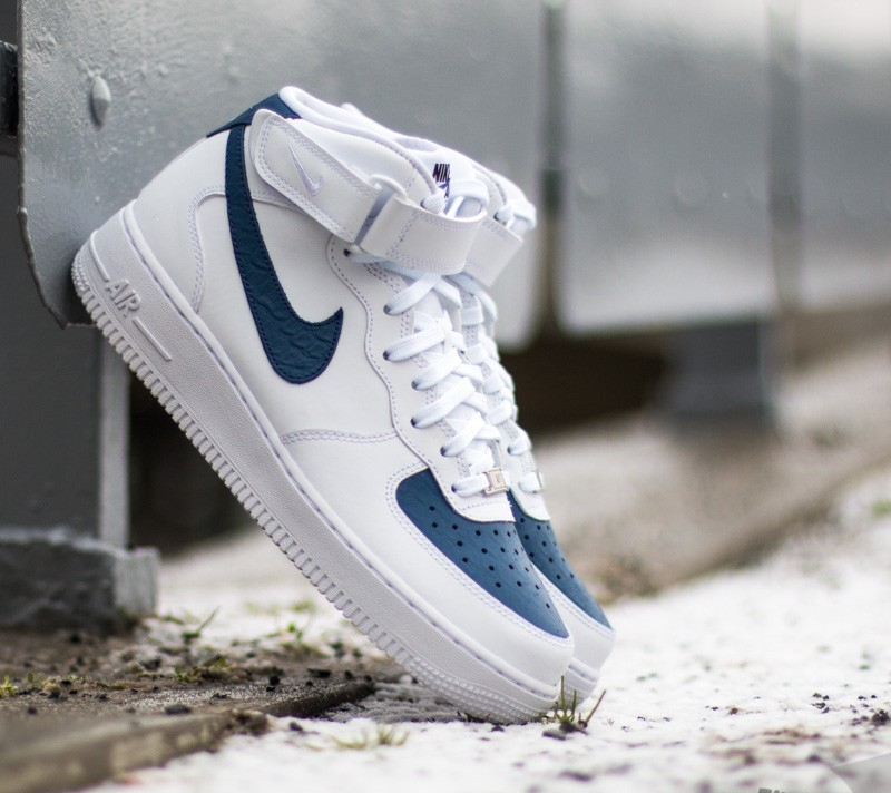 new arrival 542bf cbeef Nike Air Force 1 Mid´07 WhiteBlue Legend-White
