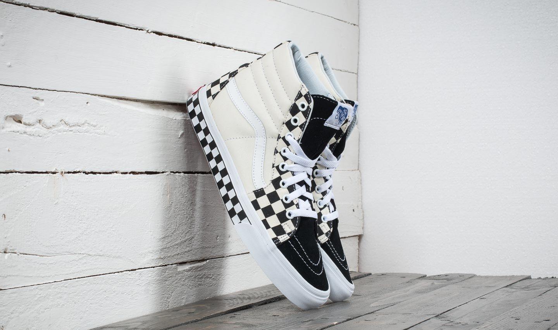 6082fd69e89 Vans Sk8-Hi (Checker Sidewall) Black  True White