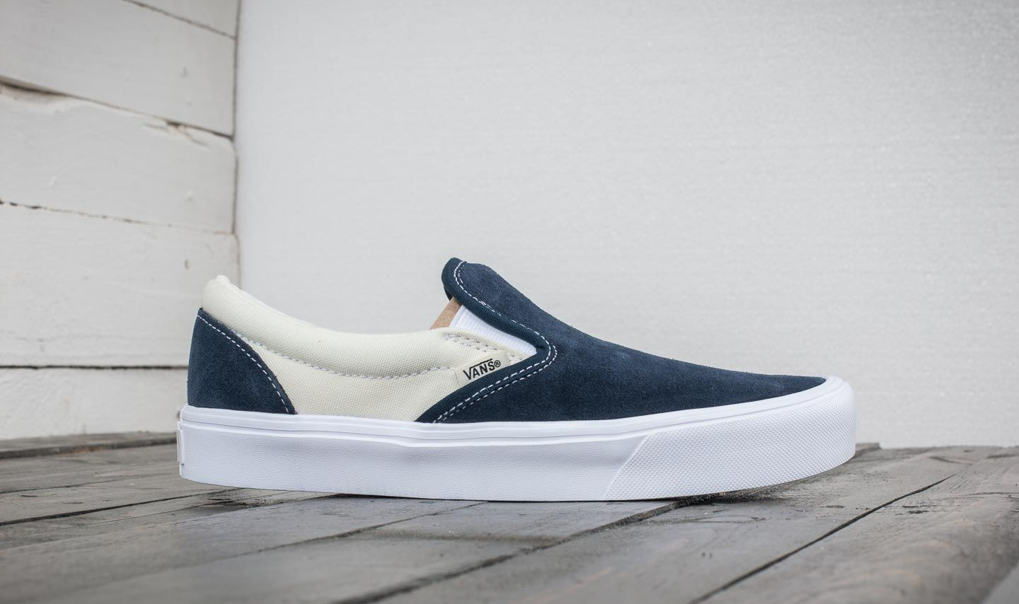 Vans Slip-On (Two-Tone) Dress Blue  Marshmallow at a great 7d72938caf61