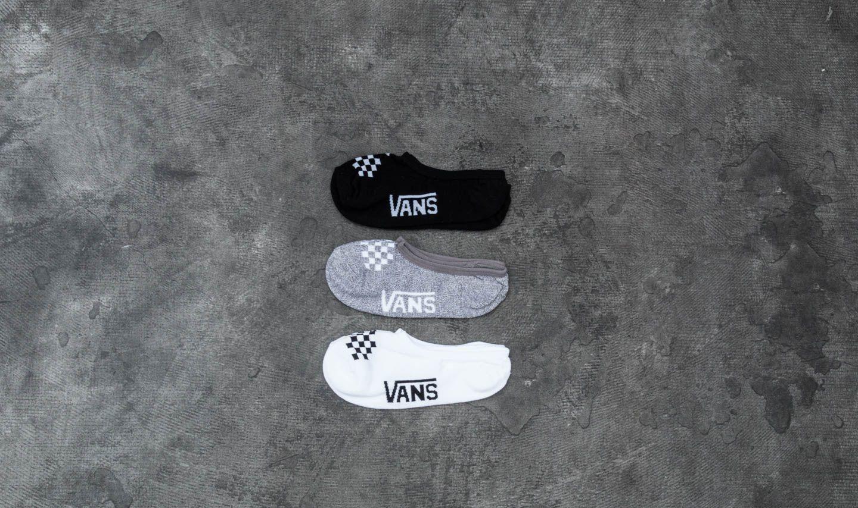 Vans Wm Basic Assorted Canoodle 3 Pack Socks Black/ White/ Grey Heather