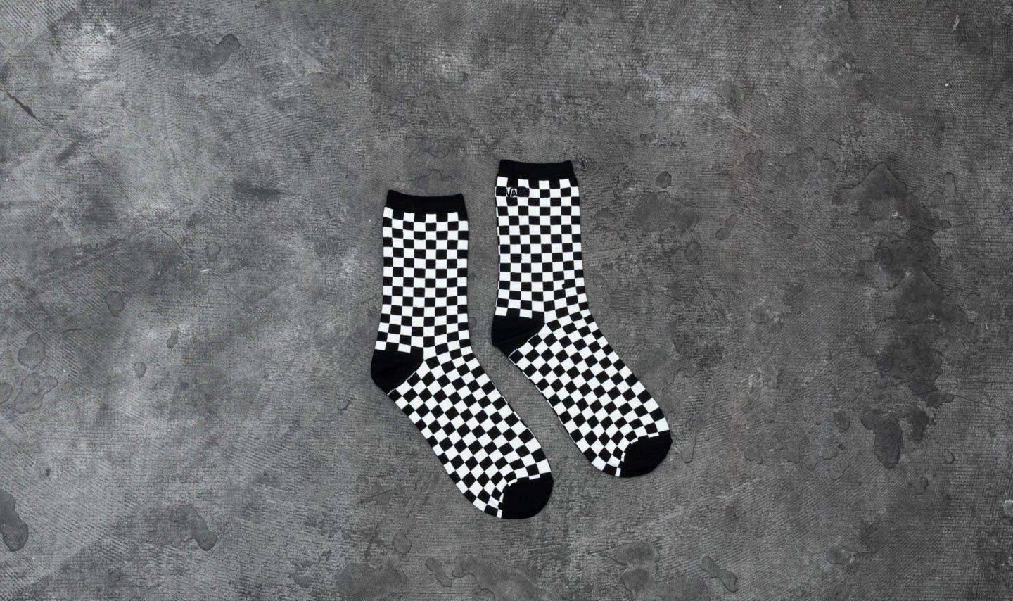 d3eb6577bda033 Vans Ticker Crew Socks Black White Checkerboard