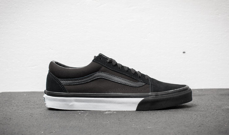 Vans Old Skool (Mono Bumper) Black/ True White | Footshop