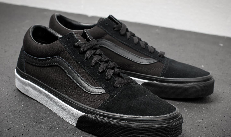 Vans Old Skool (Mono Bumper) Black True White   Footshop