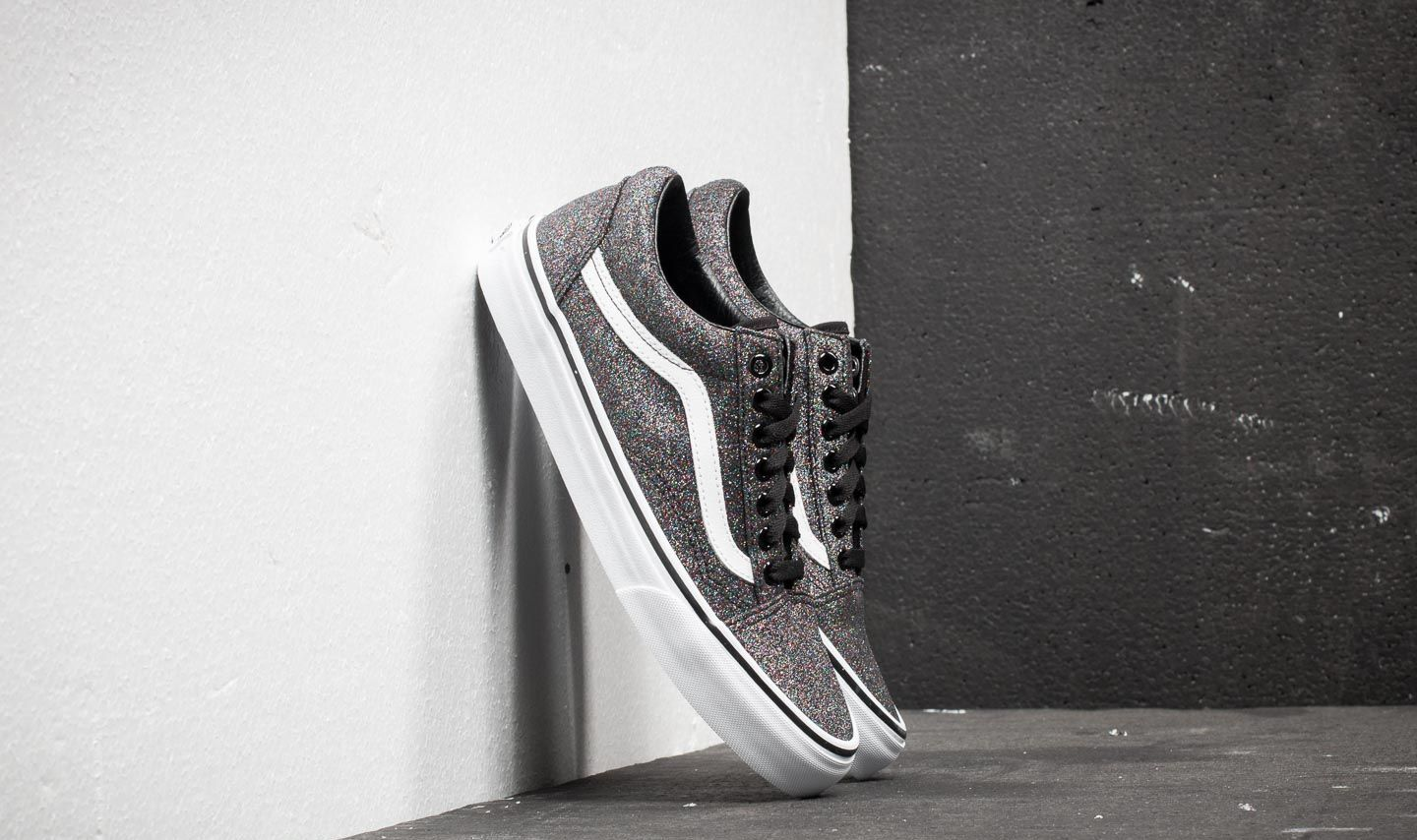 5c6ca305627a Vans Old Skool (Glitter) Rainbow Black | Footshop