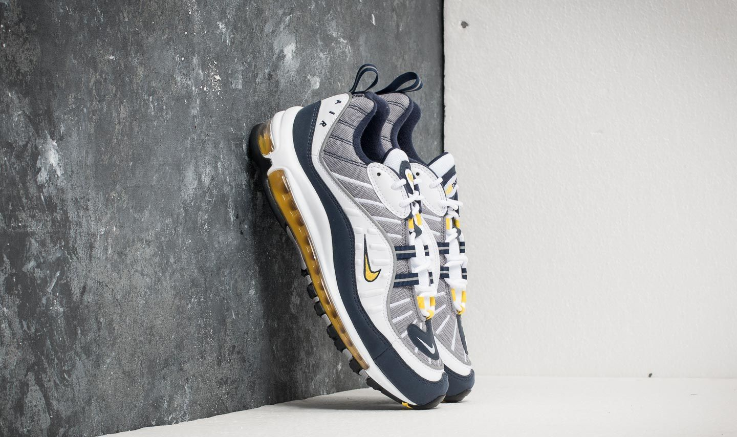 Nike Air Max 98 White  Tour Yellow  1f64a8739