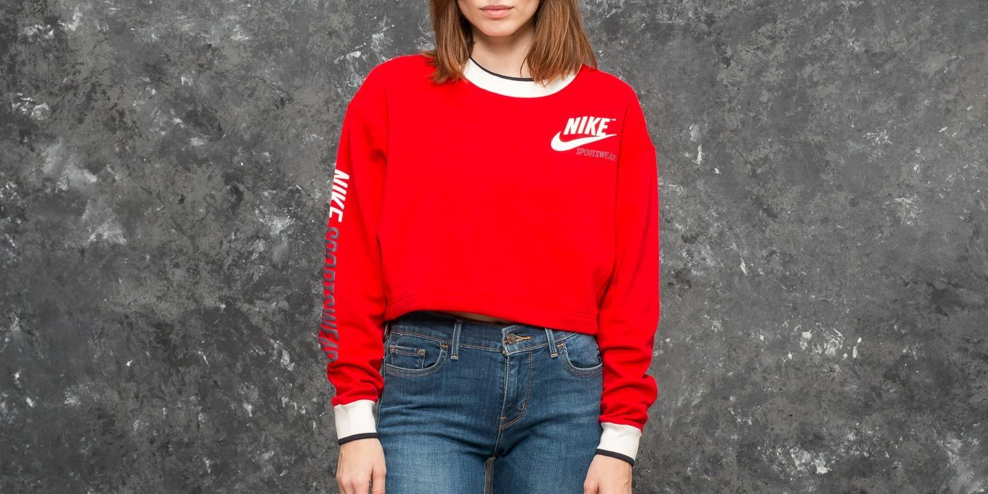 Nike Sportswear Reversible Crew University Red