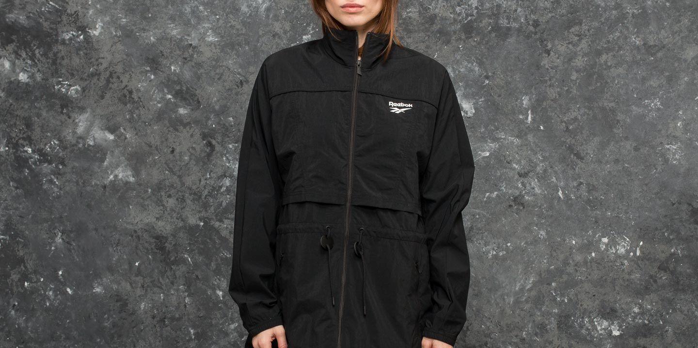 Bundy Reebok Crinkle Woven Windbreaker Jacket Black