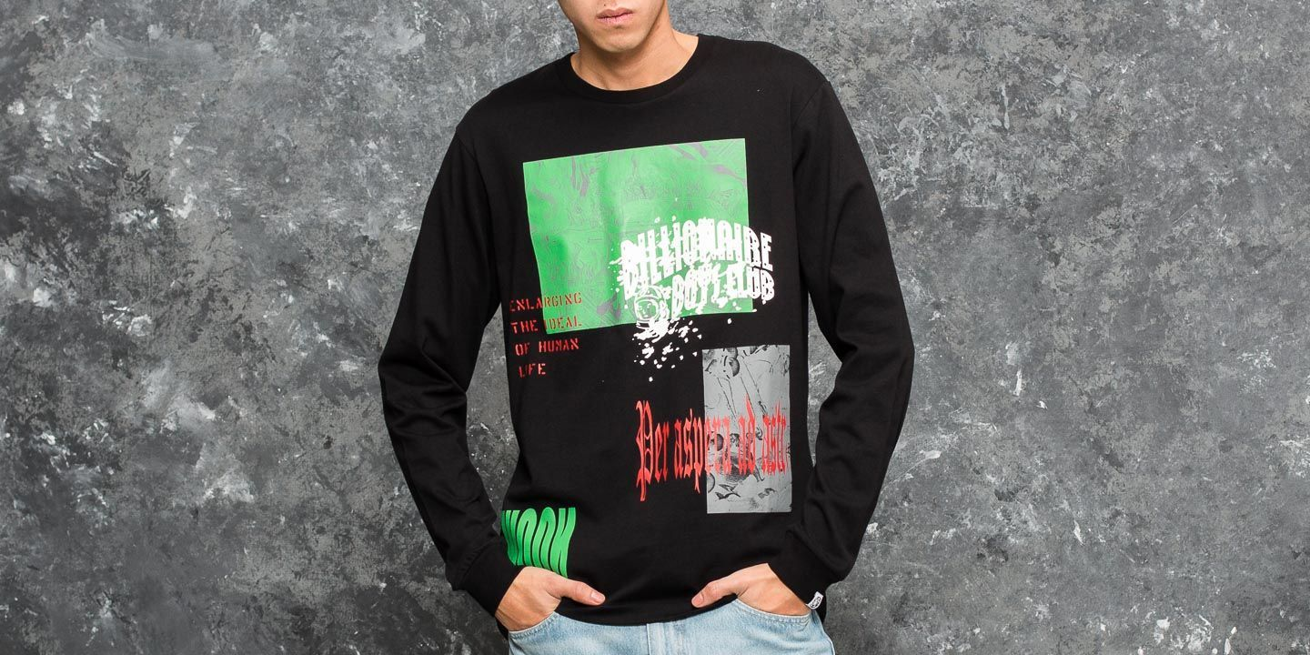 edb4cb92 Billionaire Boys Club Collage Print Longsleeve T-Shirt Black | Footshop