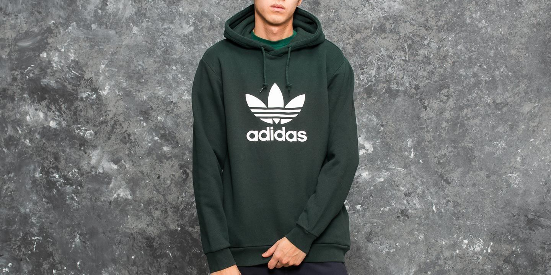 Adicolor trefoil hoodie in green green (adidas Originals