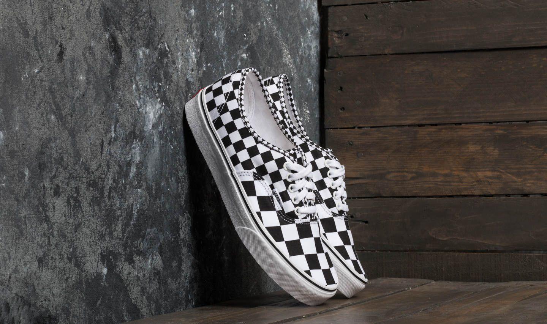 baeef8cc8e34 Vans Authentic (Mix Checker) Black  True White