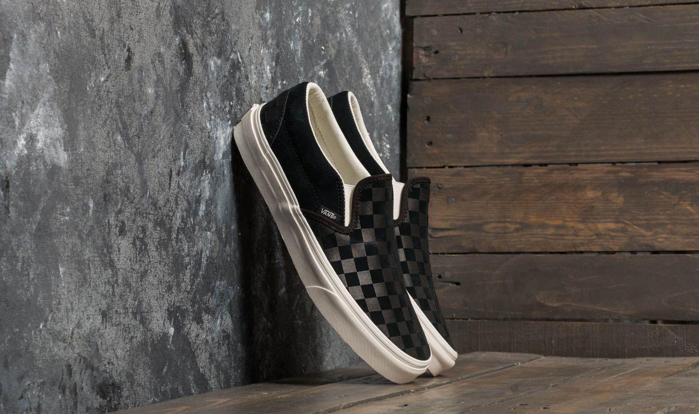 77721ad1dd4897 Vans Classic Slip-On (Checker Emboss) Black  Marshmallow
